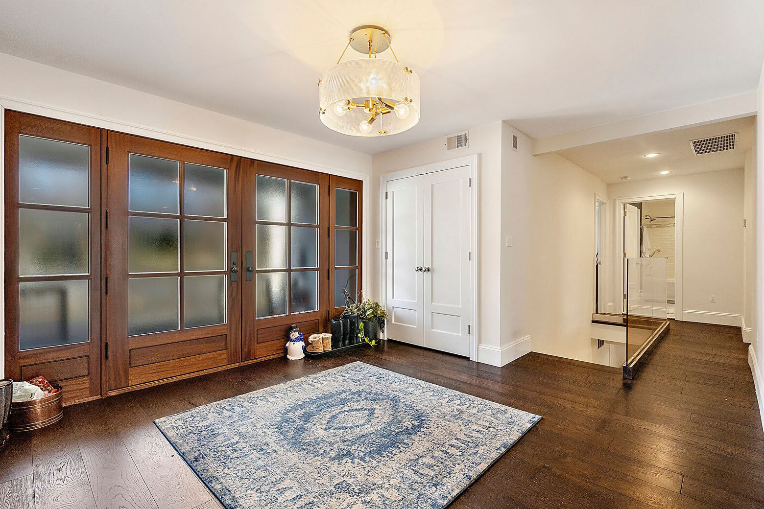 The house, which is listed for $1.75 million, features wall-to-wall walnut hardwood floors, valued at $80,000. (Courtesy Century 21 New Millennium/RealMarkets)