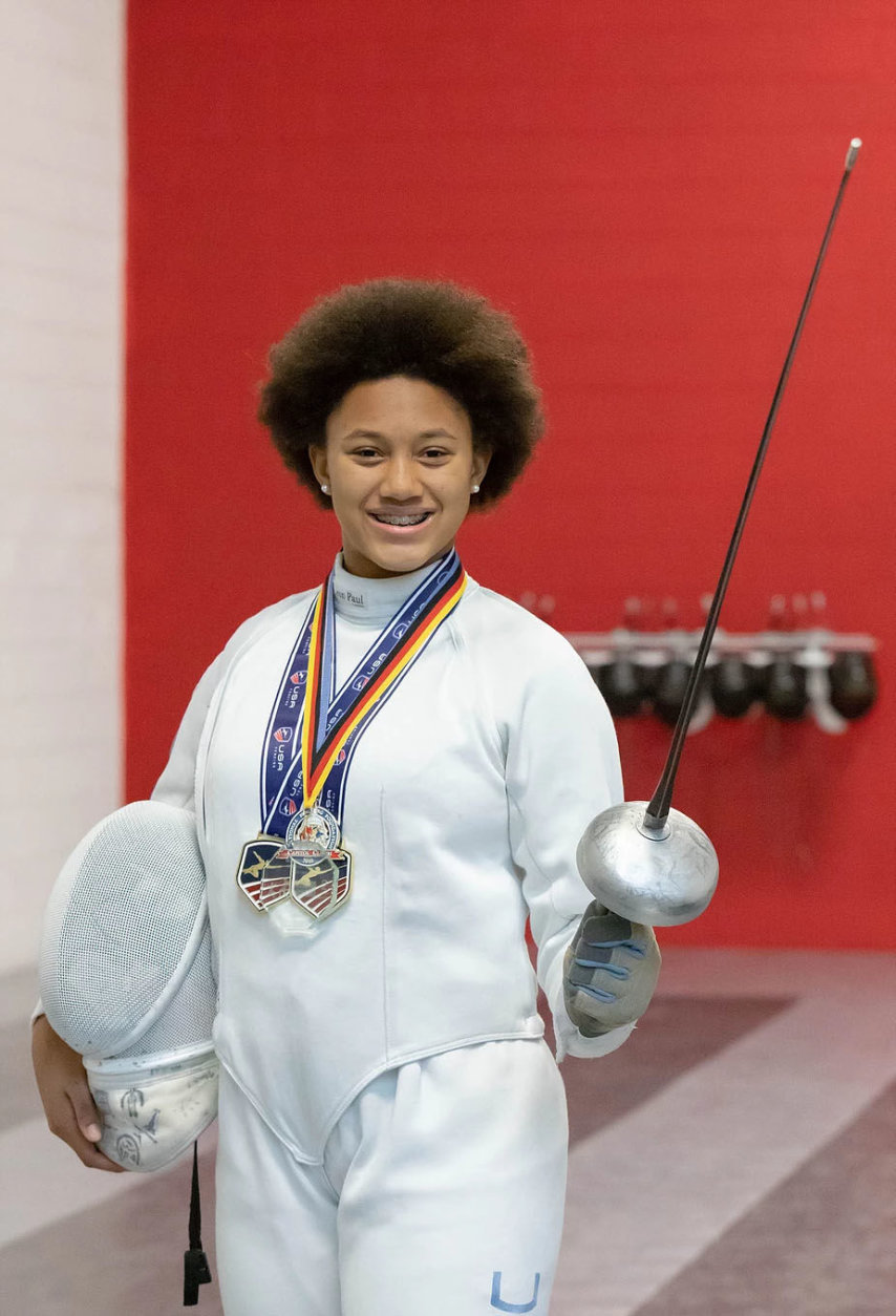 Michaela Joyce, 14, took home the silver medal at he 2019 USA Fencing Junior Olympics. (Courtesy Cardinal Fencing Academy)