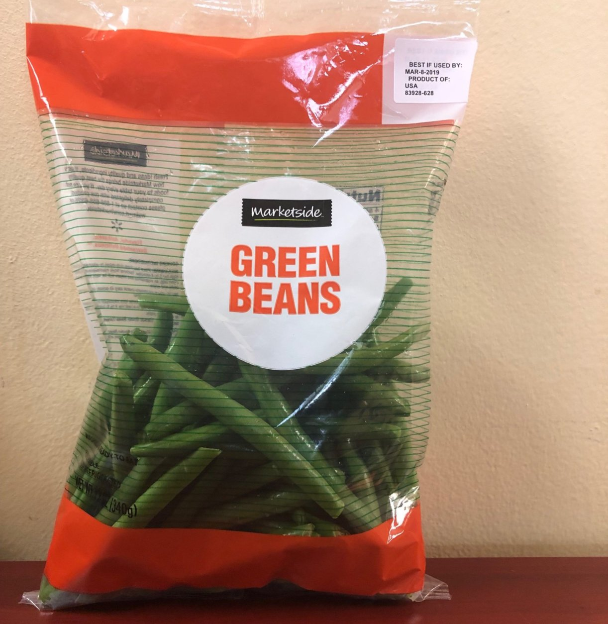 Marketside brand bagged green beans, 12 ounces (Courtesy Southern Specialties)