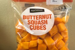 Marketside brand bagged butternut squash cubes, 16 ounces (Courtesy Southern Specialties)