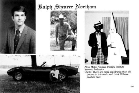 Va. Gov. Northam apologizes for 1984 yearbook page with racist imagery
