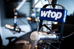 Starting in early February, WTOP's live anchoring will be produced from six microphones like this one in the new Glass-Enclosed Nerve Center. The vast majority of 5425 Wisconsin Ave.'s technology is brand-new, under construction by Minnesota-based broadcast engineering team RadioDNA since late summer of 2018. WTOP's signal strength won't be impacted by the move, since the station's transmitter will remain at nearby American University. (WTOP/Alejandro Alvarez)