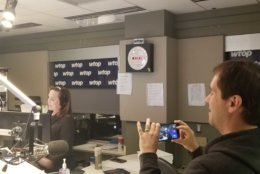Digital Editor Jack Pointer capture the final sign-off from 3400 Idaho. (WTOP/Albert Shumabukuro)