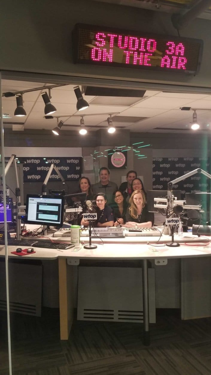 The last of the 3400 Idaho crew take a picture in studio 3A. (WTOP/Albert Shimbakuro)