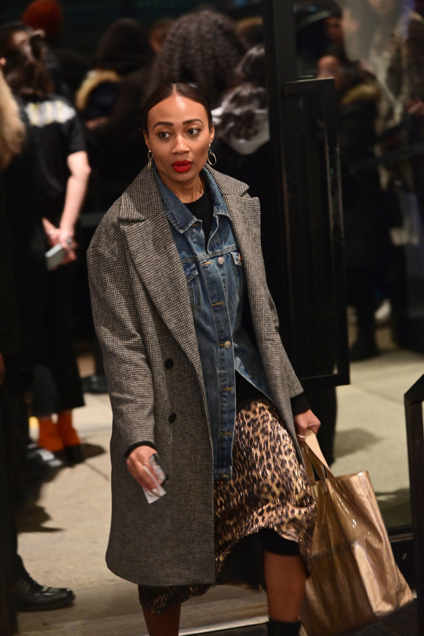 Animal prints were a favorite of fashion show attendees during New York Fashion Week