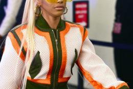 Hennessy Carolina, younger sister of rapper Cardi B., arrives at Spring Studios, New York City