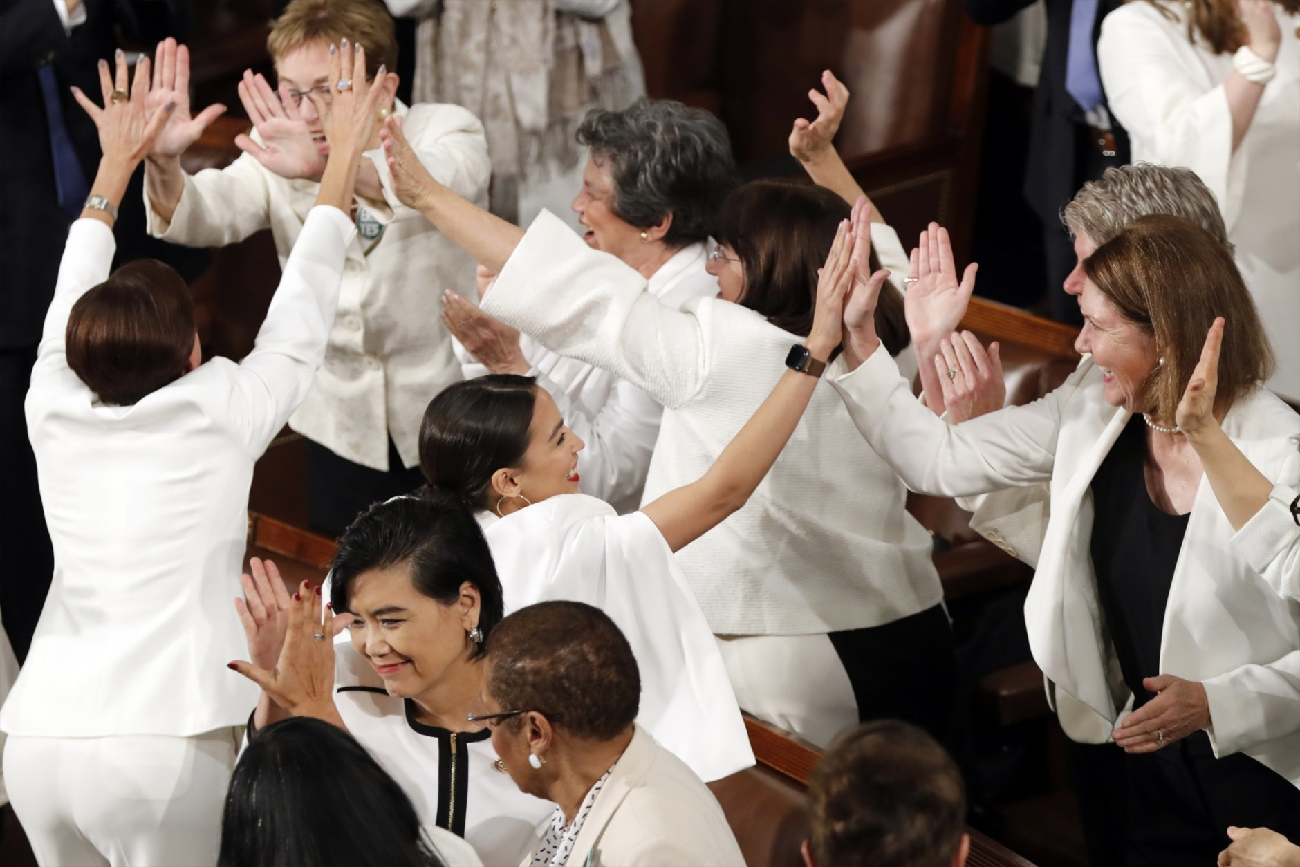 Women in white: Democrats draw contrast at Trump's address | WTOP