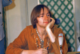 Peter Tork of the pop group the Monkees is shown at a press conference at the Warwick Hotel in New York, July 6, 1967.  (AP Photo/Ray Howard)