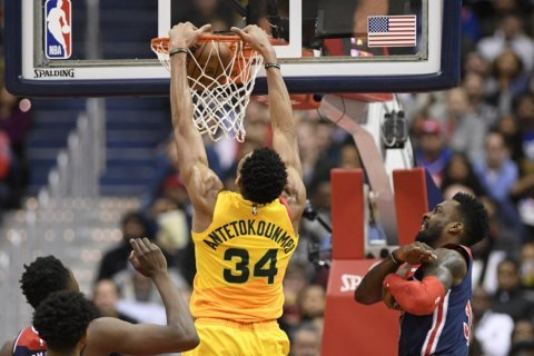 Bucks trample Wizards behind 37 from Giannis Antetokounmpo