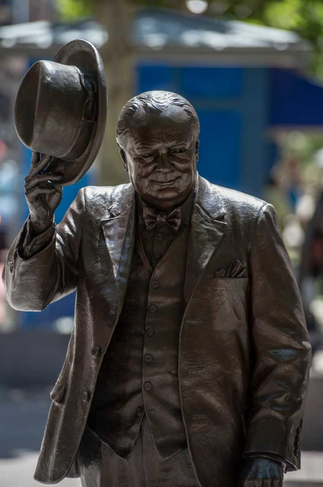 Also on display is Ivan Schwartz's statue of Winston Churchill. (Courtesy National Harbor)