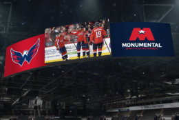 Monumental Sports & Entertainment, which completed a $40 million renovation of Capital One Arena last summer, is investing another $15 million to make the arena more of a digital experience, including the largest center-hung scoreboard in an indoor arena. (Courtesy Monumental Sports and Entertainment)
