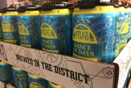 Atlas Brew Works' beers include its West Coast-style IPA Ponzi, craft lager District Common, dry-hopped pale ale Dance of Days, and its 1500 South Cap Lager, which it brews for the Washington Nationals. (Courtesy Atlas Brew Works)