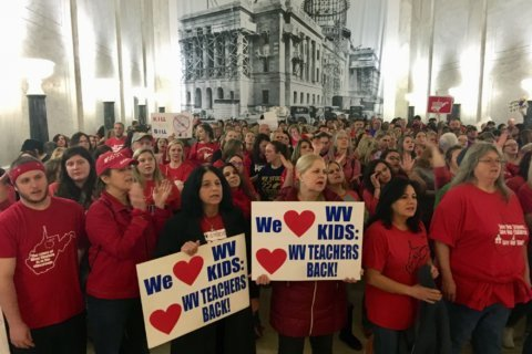 Despite bill's demise, W.Va. teachers to strike for 2nd day