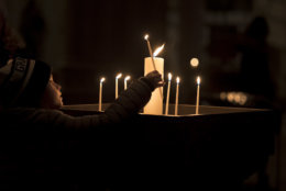 """The cathedral opened its doors to prayer and meditation Tuesday night as part of the week's """"Seeing Deeper"""" events. (Courtesy Washington National Cathedral)"""