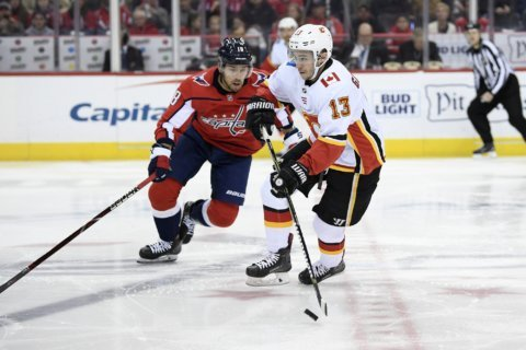 Capitals burn Flames in hard-fought 4-3 victory