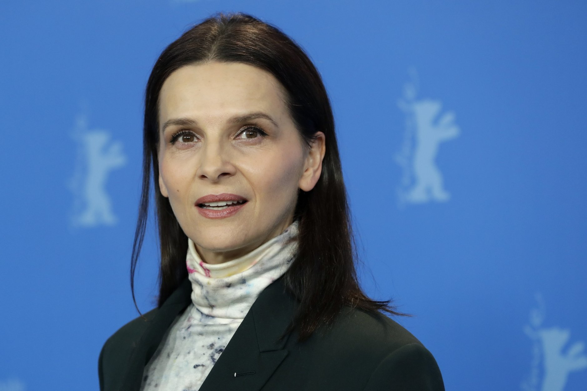 Jury president Juliette Binoche poses for the photographers during a photo call at the 2019 Berlinale Film Festival in Berlin, Germany, Thursday, Feb. 7, 2019. (AP Photo/Michael Sohn)