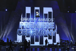 A view of the stage appears at the 61st annual Grammy Awards on Sunday, Feb. 10, 2019, in Los Angeles. (Photo by Matt Sayles/Invision/AP)