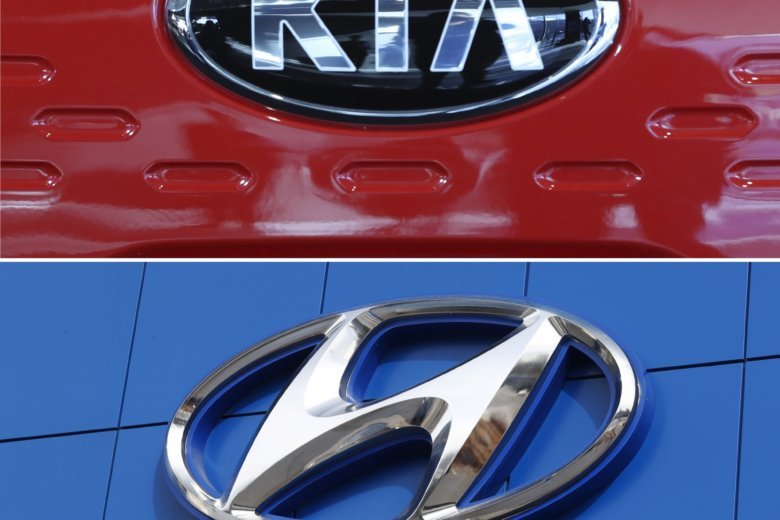 File This Combination Of Photos Shows The Logo Kia Motors During An Unveiling Ceremony On Dec 13 2017 In Seoul South Korea Top And