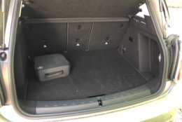 Trunk space in the S E Countryman ALL4. (WTOP/Mike Parris)