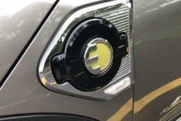 One of the few stylistic giveaways that this is the hybrid version of the Countryman is this 'E' on the plug-in slot (WTOP/Mike Parris)