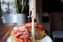 The Meatball Shop's 7-pound meatball is a challenge that is only for the hearty. (Courtesy The Meatball Shop)