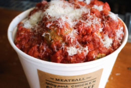 Here's what the bucket of meatballs looks like.(Courtesy The Meatball Shop)