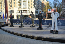 Also on display are Ivan Schwartz's statues honoring all branches of the military. (Courtesy National Harbor)