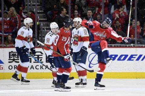Caps fall to Panthers in scrappy 5-4 OT loss