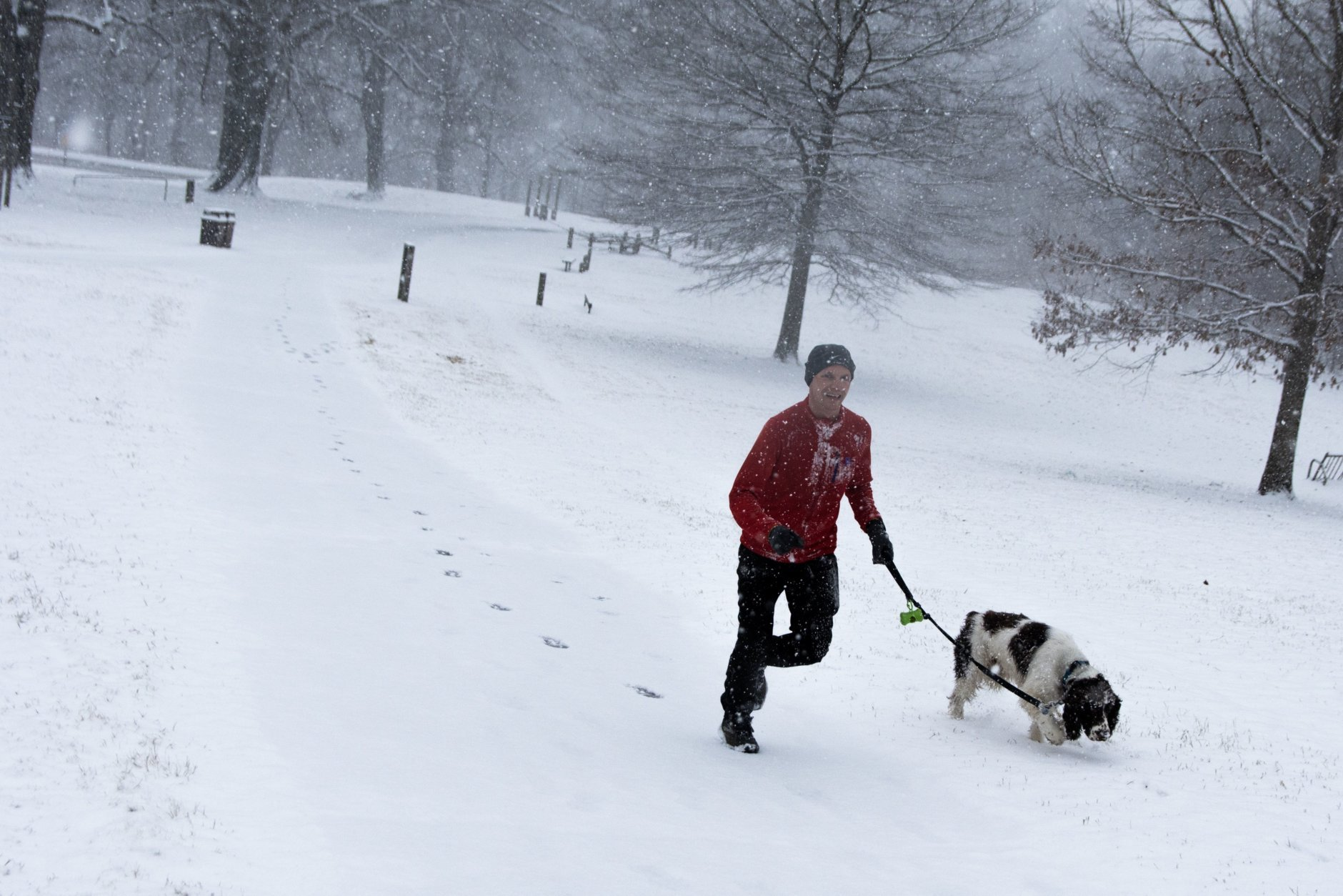 On Wednesday morning, Rock Creek Park was — unsurprisingly — most devoid of commuters, save for some joggers and residents of northwest D.C. walking dogs. (WTOP/Alejandro Alvarez)