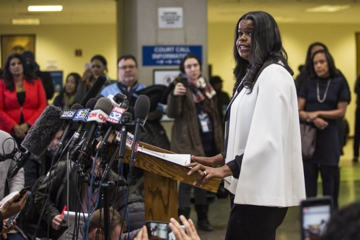 Foxx Speaks To Reporters At The Leighton Criminal Courthouse After R Kelly Was Ordered Held On A 1 Million Bond Saturday Feb 23 2019 In Chicago