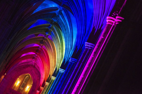 PHOTOS: Colorful lights, mindful yogis and more fill National Cathedral
