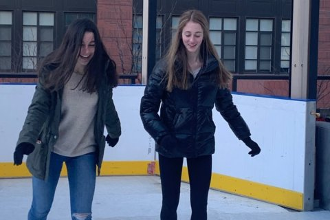 Rooftop ice skating in Bethesda — and spiked hot chocolate, too