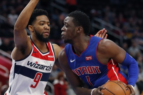 Wizards two-game win streak comes to an end in Detroit