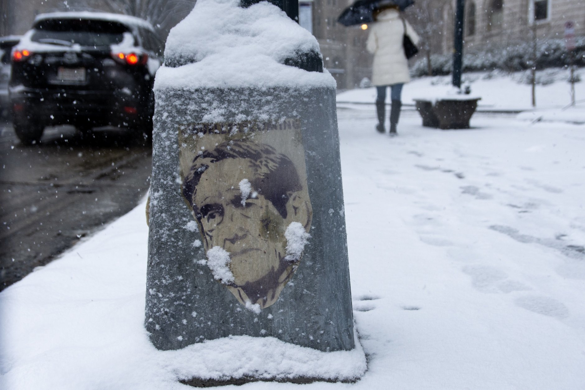 The D.C. region was hammered by snow Wednesday. (WTOP/Alejandro Alvarez)
