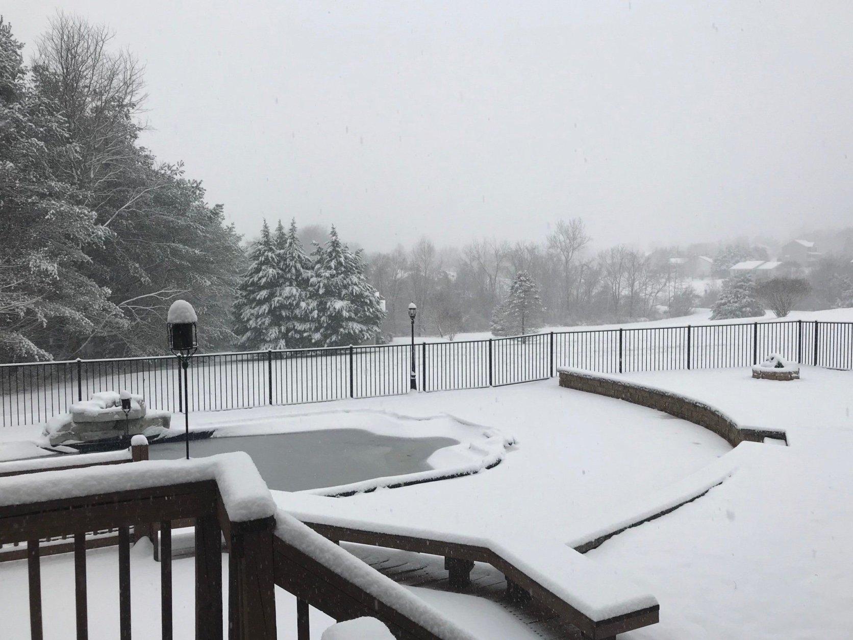 It's a winter wonderland in Culpeper, Virginia, on Wednesday morning. (Courtesy @RandiLutz via Twitter)