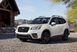This undated photo provided by Subaru shows the Subaru Forester, a crossover that has both city and off-road capabilities. (Subaru via AP)