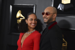 Alicia Keys, left, and Swizz Beatz arrive at the 61st annual Grammy Awards at the Staples Center on Sunday, Feb. 10, 2019, in Los Angeles. (Photo by Jordan Strauss/Invision/AP)