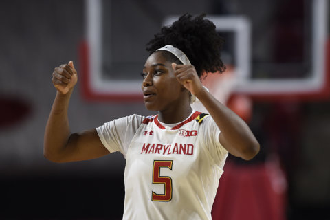 Kaila Charles helps No. 10 Maryland women beat Rutgers 62-48