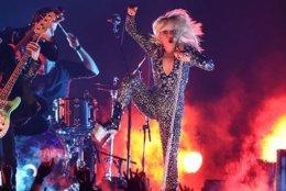 Lady Gaga performs at the Grammys; Monty Brinton/CBS