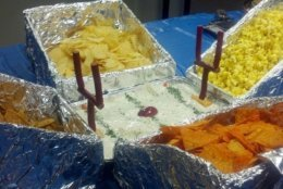 "For the 2014 party, midday editor Mike Jakaitis made the ""Mile High Cholesterol Stadium."" (WTOP Mike Jakaitis)"