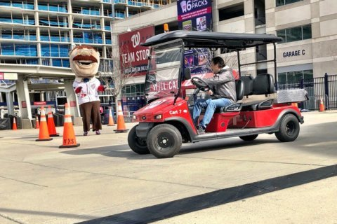 Relief, please: Washington Nationals audition bullpen cart drivers