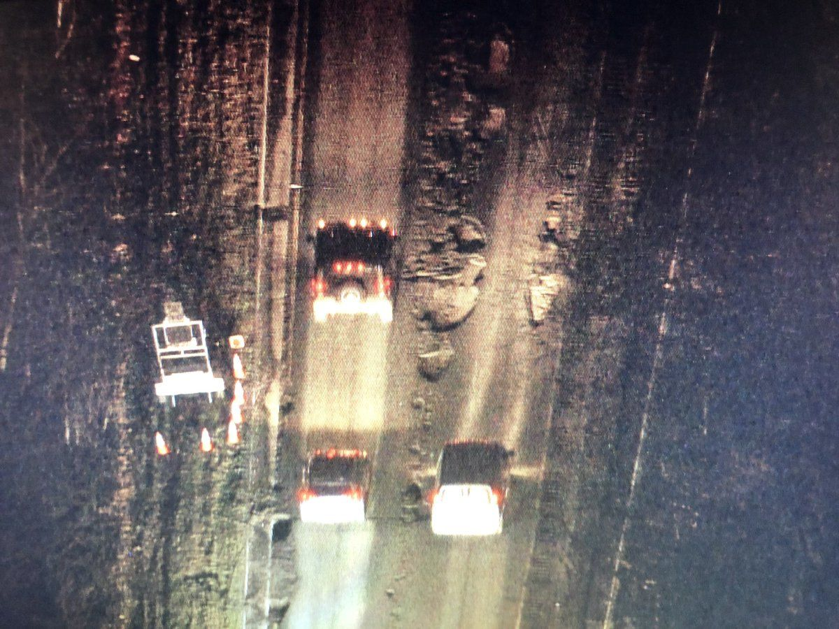 Helicopter footage shows that the BW Parkway's pothole situation could be the worst yet. (Courtesy Brad Freitas)