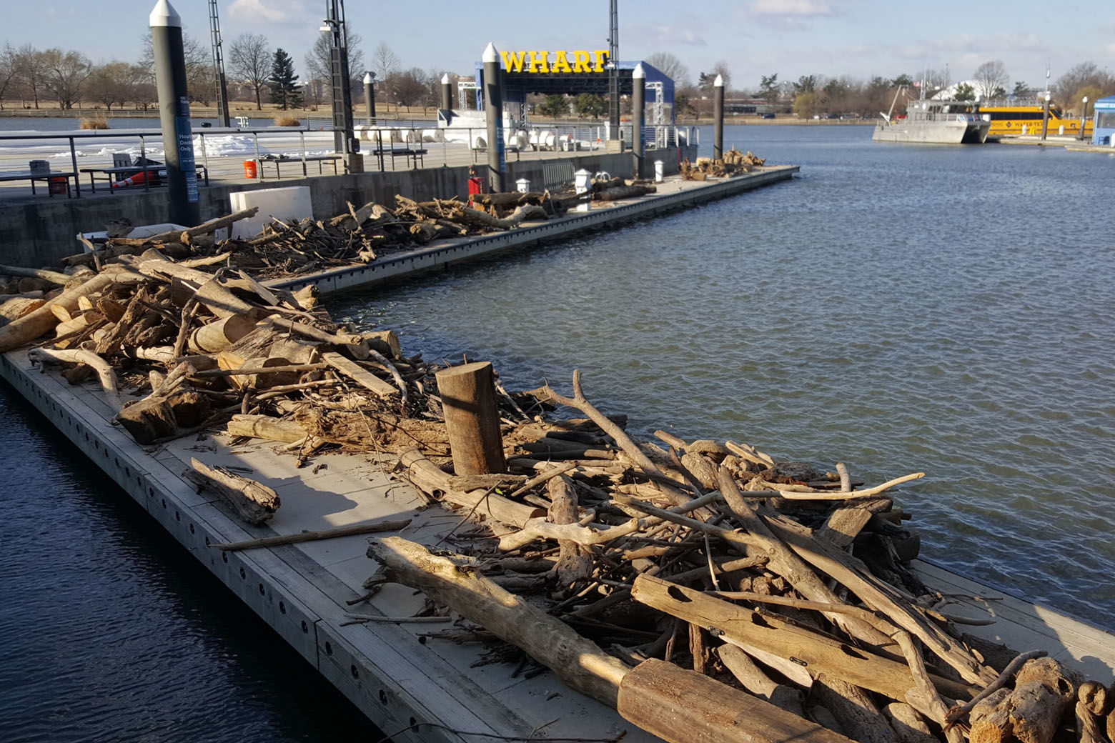 As of Friday, four 30 yard dumpsters of debris had been removed from the channel. (Courtesy Patrick Revord)