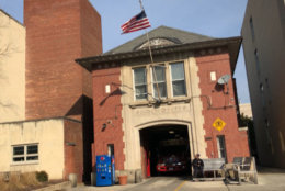 The firehouse for Engine 23 in Foggy Bottom was built in 1910. (WTOP/John Aaron)