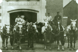 The station originally housed horse-drawn pieces of fire equipment (Courtesy DC Fire and EMS Museum)