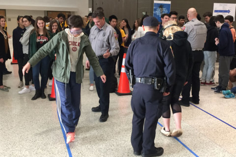 Fairfax Co. students stumble in drunk goggles then learn deadly serious lesson