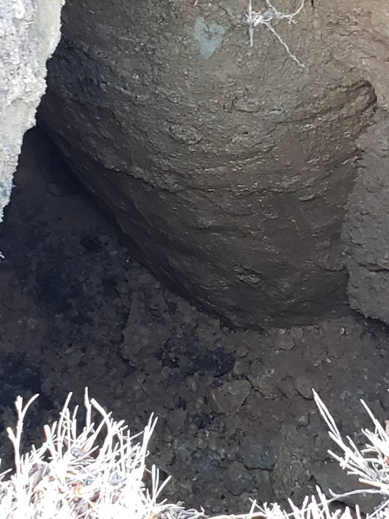 The National Park Service said the sinkhole appeared to be caused by a broken stormwater pipe below ground. The 10-feet-deep sinkhole caused the Park Service to close the parkway in both directions earlier Friday. (Courtesy National Park Service)