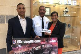 7th grader Jewel Walker, 13 attended the assembly where his mom and Prince George's Council Council member Monique Anderson-Walker (District-8) and Prince George's County Fire Chief Benjamin Barksdale spoke about driving safely. (WTOP/Kristi King)