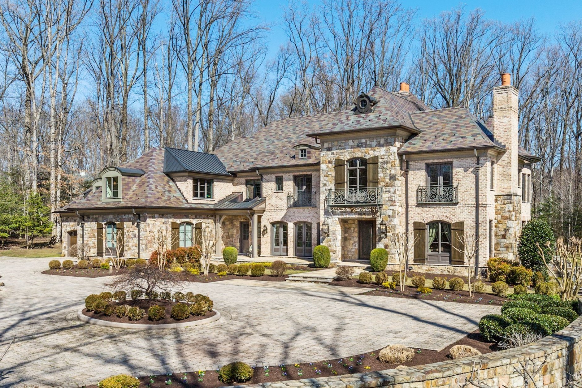 Tammy Darvish's three-level, single-family home sits on 2 acres at 9811 Avenel Farm Drive. in Potomac, Maryland. (Courtesy Washington Fine Properties)