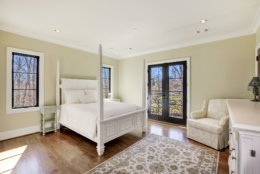 One of the six bedrooms. (Courtesy Washington Fine Properties)
